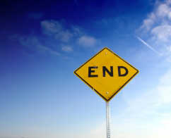 End sign USA