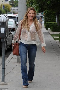 Hilary Duff photographed on Melrose Beverly Hills