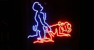 neon sign man woman