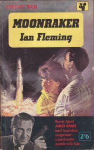 Moonaraker Ian Fleming novel Bond 1955 paberback pan book cover