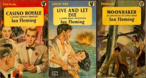 Moonaraker Ian Fleming novel Bond 1955 casino royale live and let die paberback pan book cover