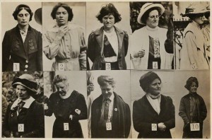 Surveillance Photograph of Militant Suffragettes by Criminal Record Office 1914 {courtesy of NPG}