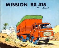 Mission BX 415 bande dessinee comic book cover