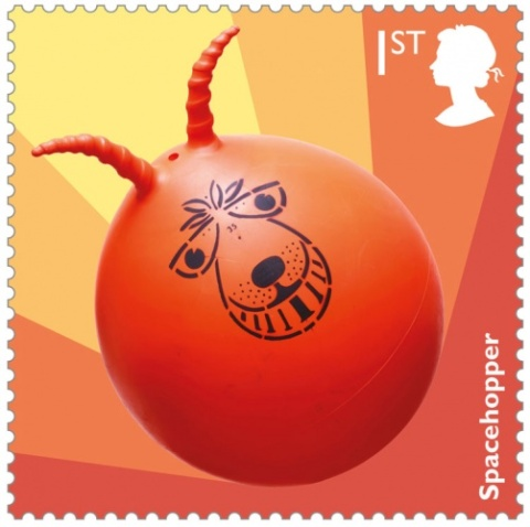 Spacehopper-stamp toy 70s