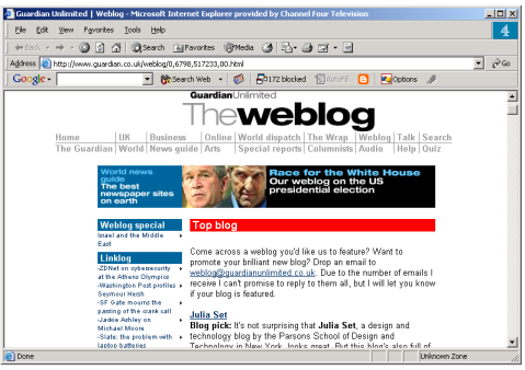 Omagh Guardian Unlimited The Weblog screen 1