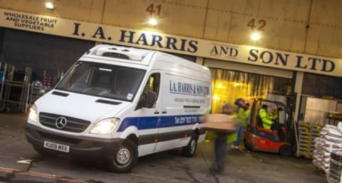 mercedes van I A Harris fruit vegetables