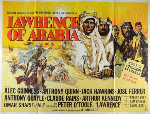 1962 lawrence of arabia movie film poster