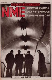 joy division nme newspaper magazine cover 1980 ian curtis tribute
