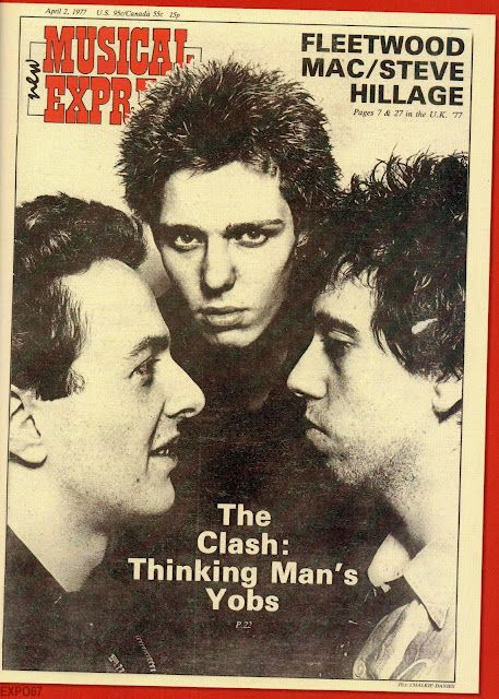 The original NME Cover of the Clash from April 1977 By Chalkie Davies