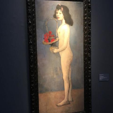 Fillette à la corbeille fleurie -Picasso (1905)