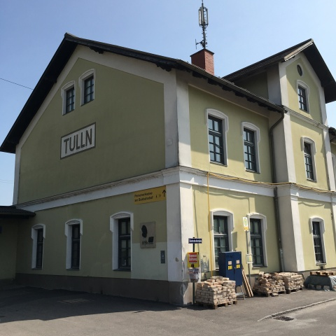 Schiele's birthplace - the station at Tulln