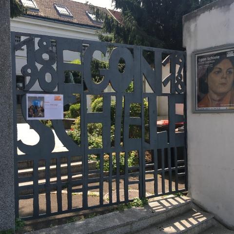 gates of the egon schiele museum tulln austria