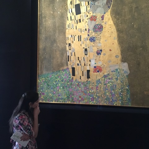 Klimt's The Kiss in Schloss Belvedere, Vienna