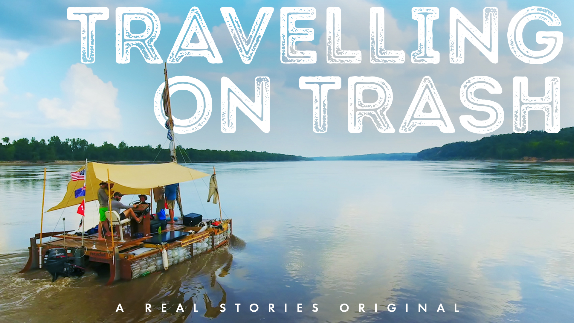 travelling on Trash Poster real stories little dot studios