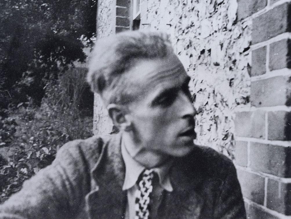 John Piper at Fawley Bottom farmhouse c.1935