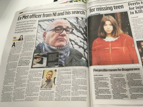 ex-met officer from ni and his search for missing teen belfast telegraphy 8th may 2018