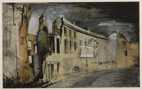 Somerset Place, Bath (1942) - John Piper
