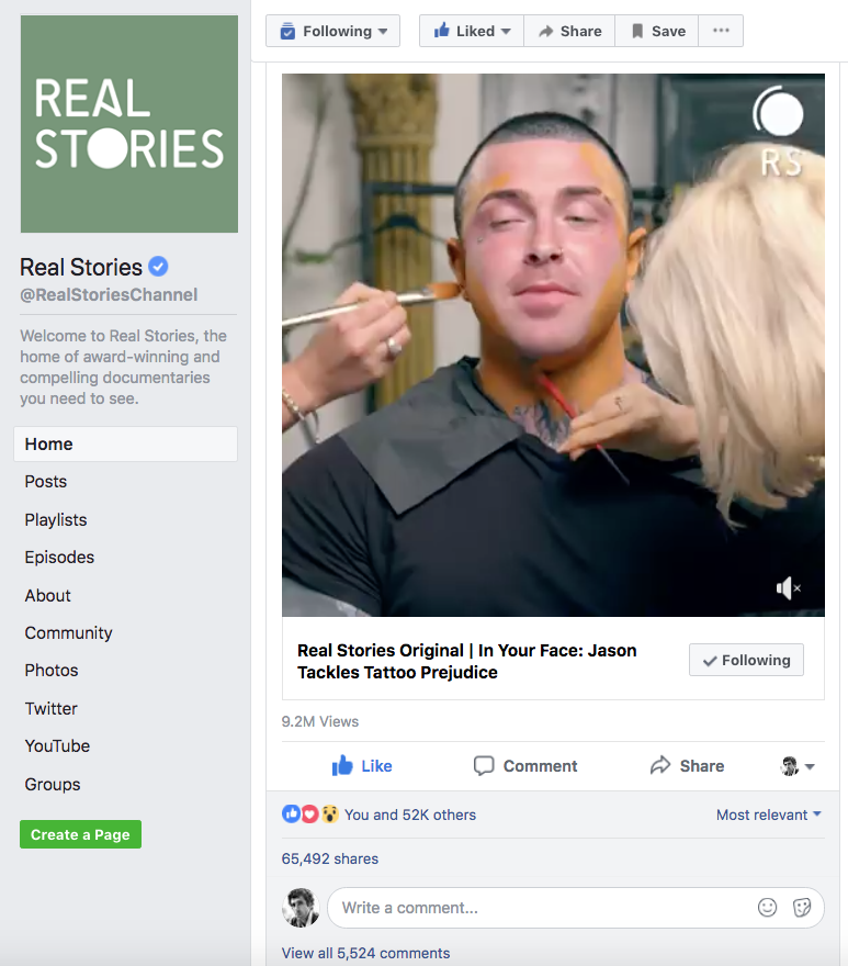In Your Face real stories facebook 2018-05-18