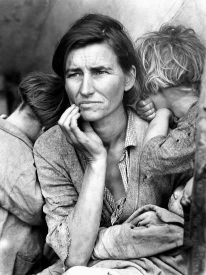 dorothea-lange-migrant-mother-1936 photograph great depression dust bowl