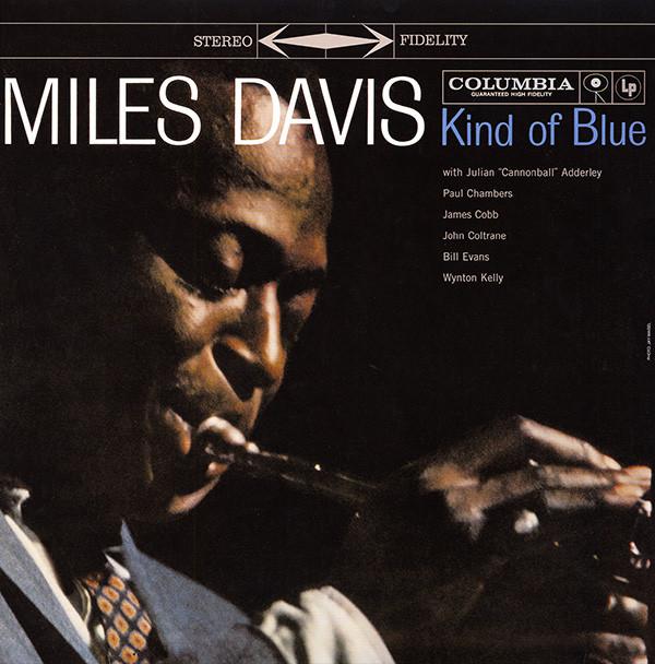 kind of blue miles davis record album cover design music