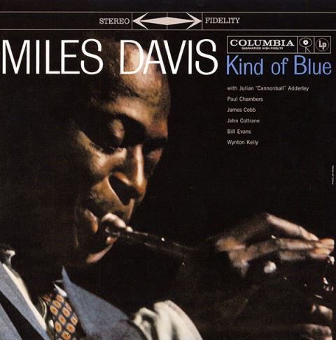 kind of blue miles davis record album cover design music