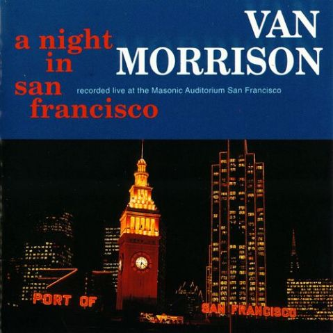 van morrison a night in san francisco record album cover design music