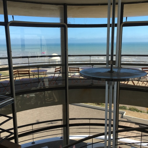 De La Warr Pavilion, Bexhill-on-Sea, East Sussex - interior staircase