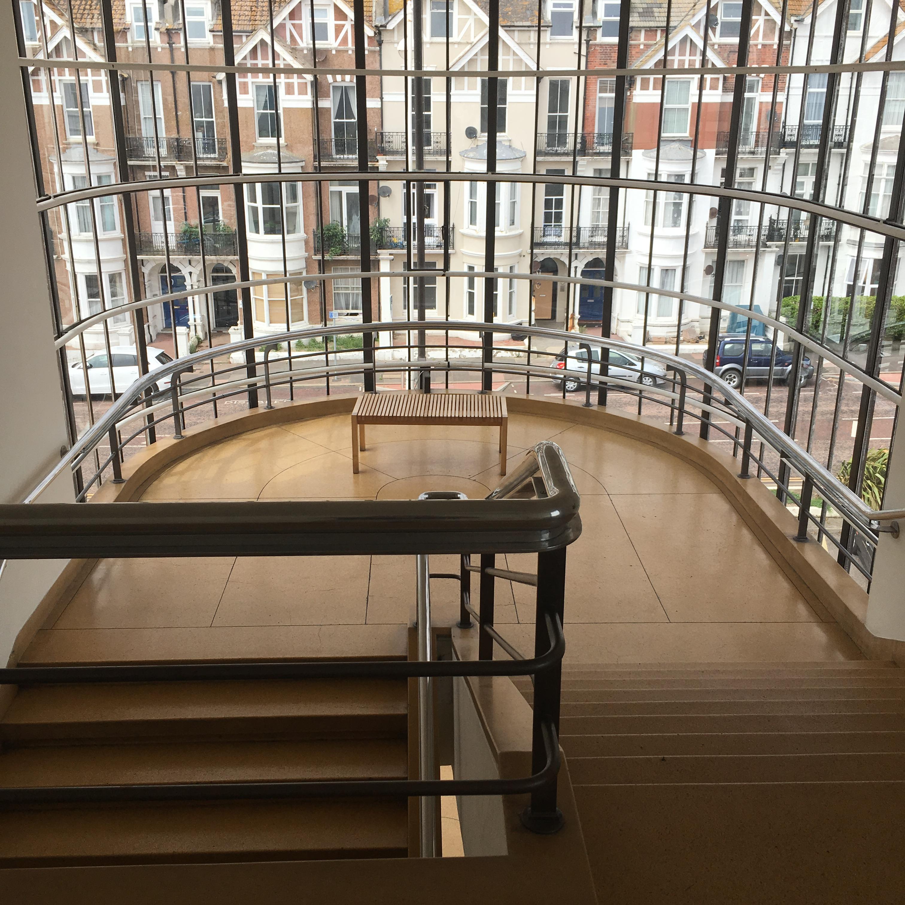 De La Warr Pavilion, Bexhill-on-Sea, East Sussex - interior staircase landside
