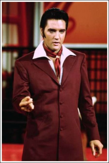 elvis 68 comeback special costume suit brown Saved