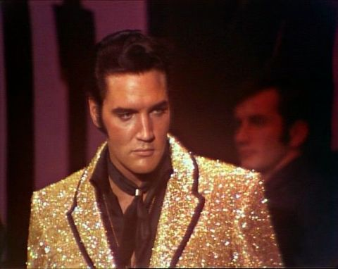 elvis 68 comeback special costume suit gold