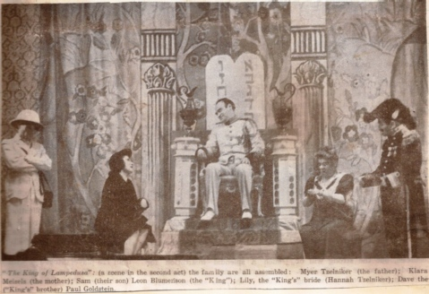King of Lampedusa 2nd act newspaper cutting