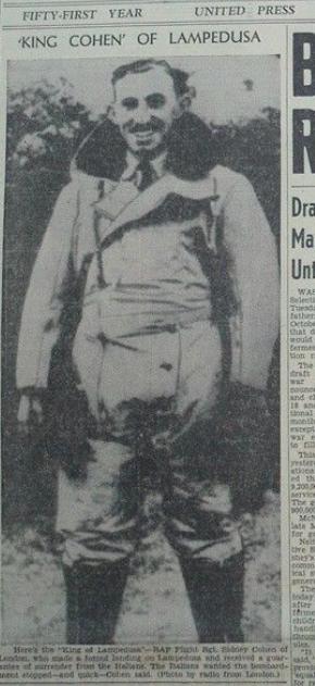 king cohen of lampedusa newspaper headline