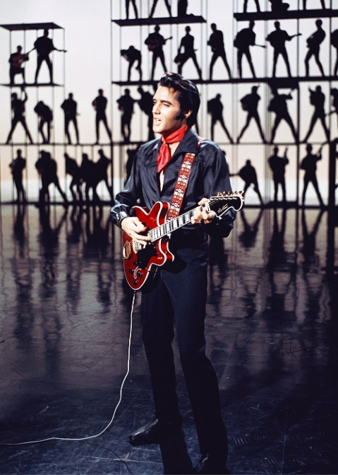 elvis 68 comeback special costume red black