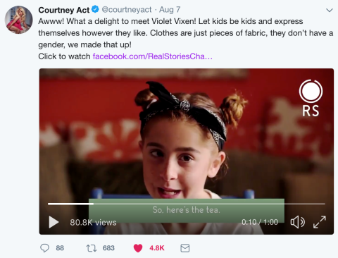 courtney act tweet about leo violet vixen