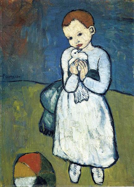 Child with dove (1901)