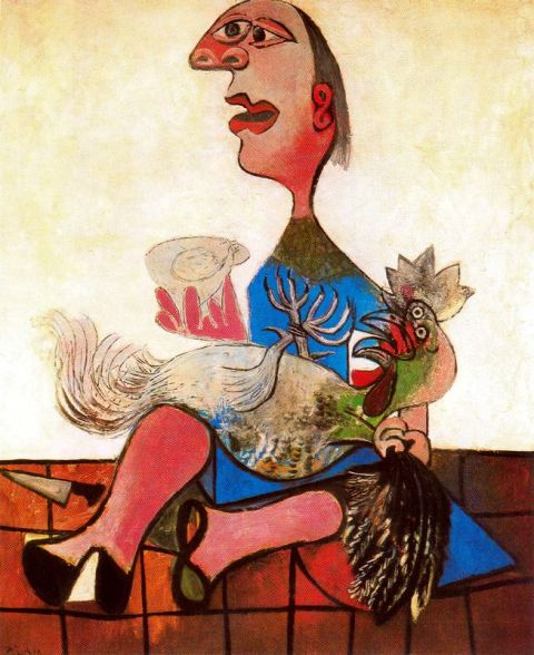 Woman with a Cock (1938) picasso