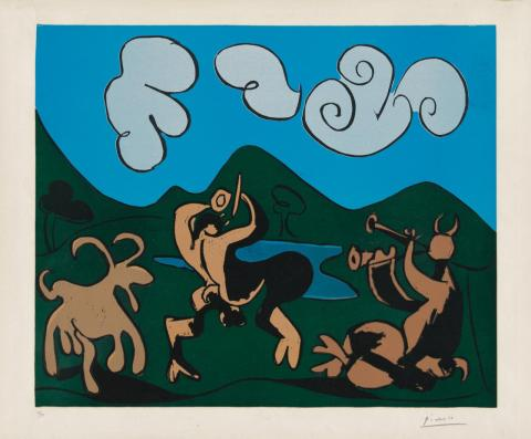 Fauns and Goat 1959 By Pablo Picasso