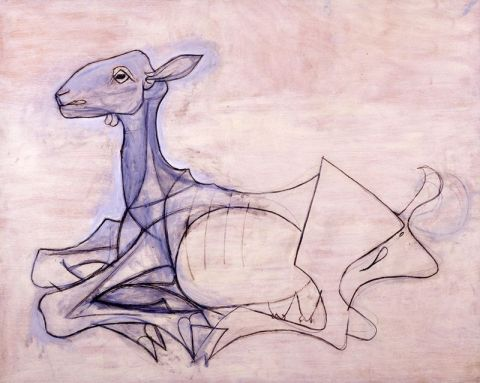 picasso the goat 1946