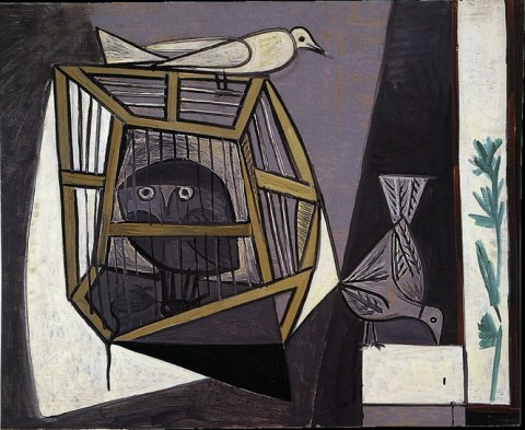Pablo Picasso — Cage with owl, 1947