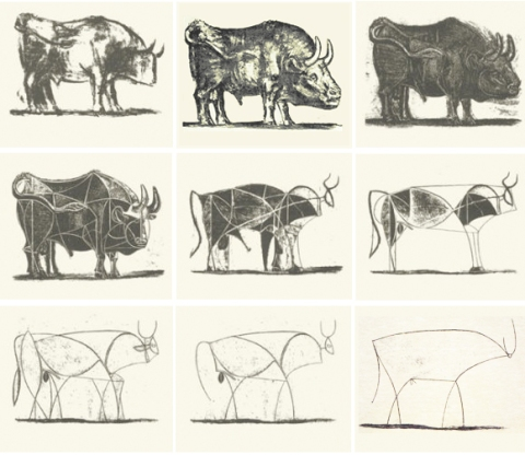 picasso bull 1945