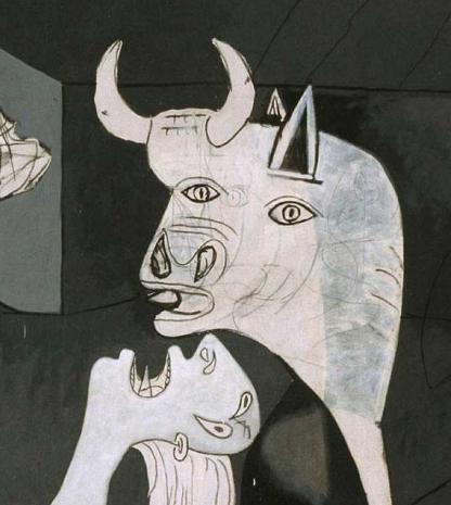 picasso bull guernica