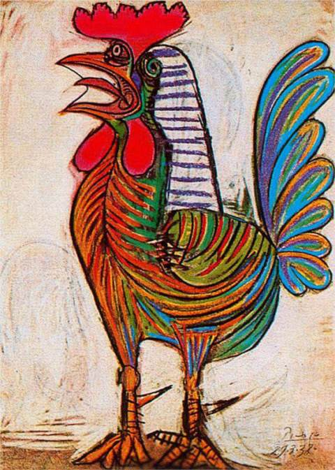 the-rooster 1938 picasso