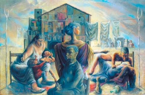 The Captive Seven (1949-50) by Michael Ayrton (1921-1975) Tate Gallery