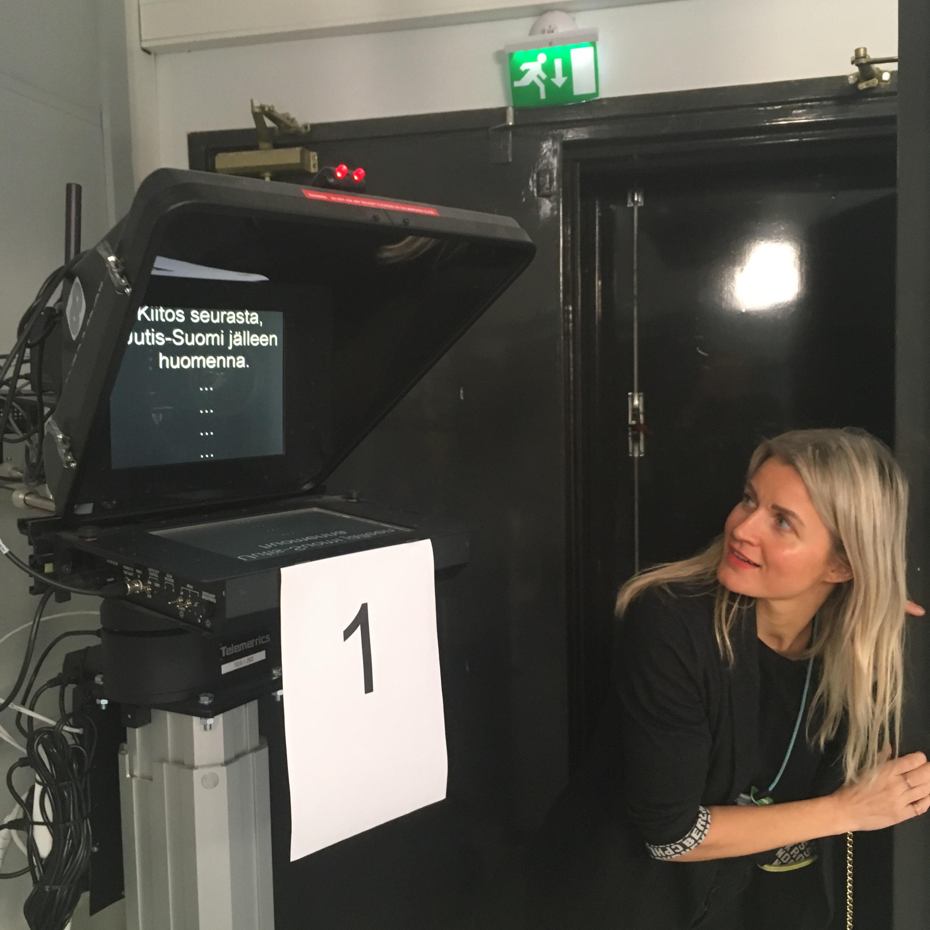 milla madetoja yle news anchor studio