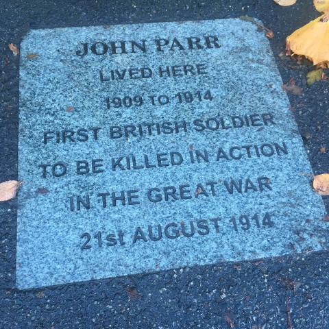 John Parr WW1 soldier plaque Finchley London N12