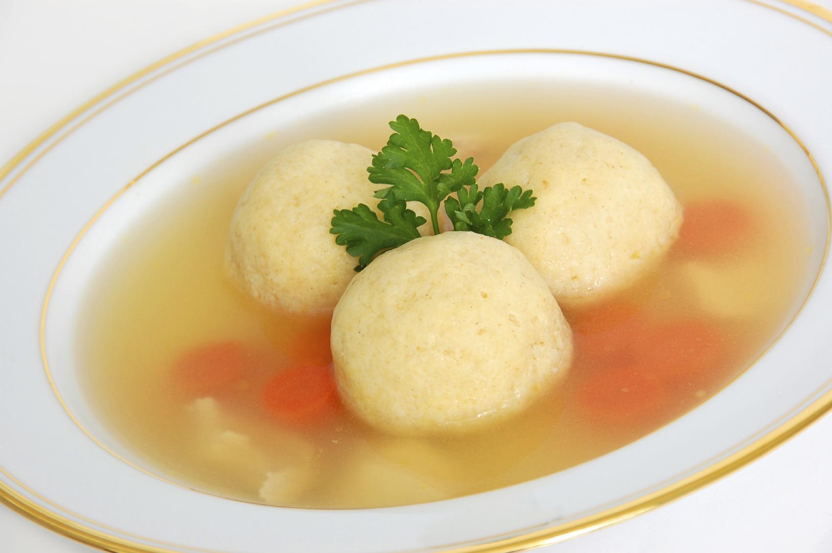 matzah-balls chicken soup jewish