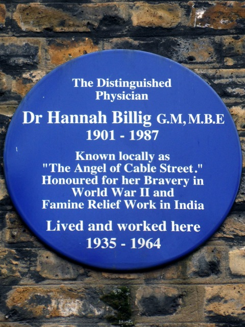 Dr_Hannah_Billig_GM_MBE_1901-1987 blue plaque