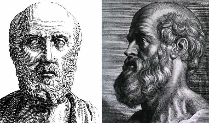 Hippocrates greek father of medicine portrait