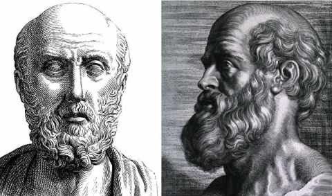 Hippocrates greek father of medicine portrait