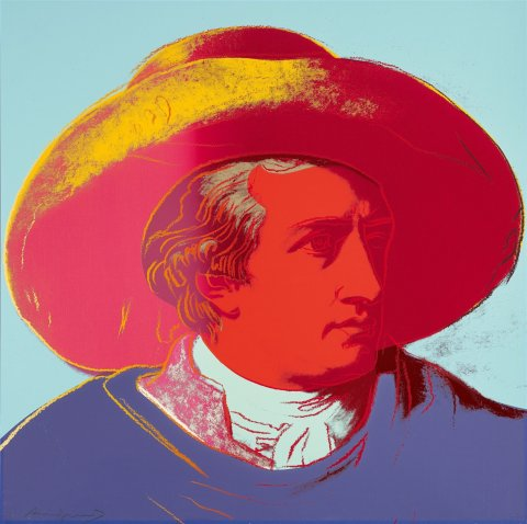 Johann Wolfgang von Goethe by Andy Warhol (1982)